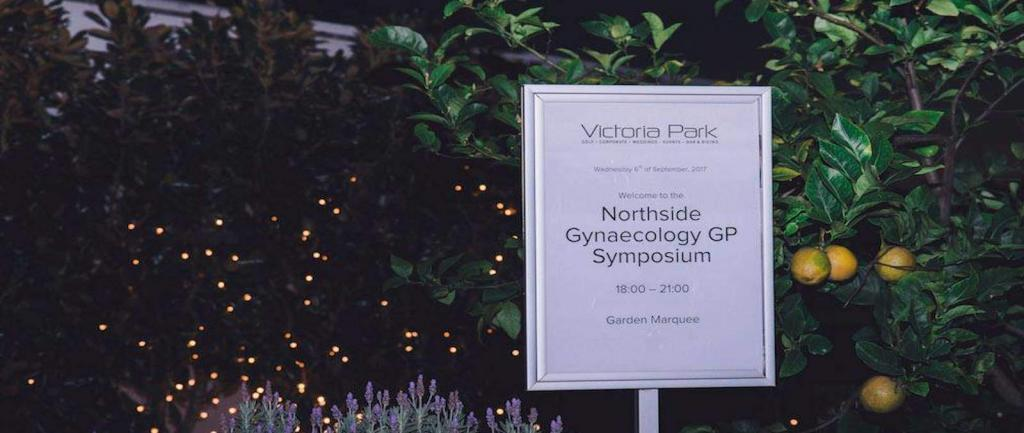Northside Gynaecology Sign at GP Symposium - Victoria Park