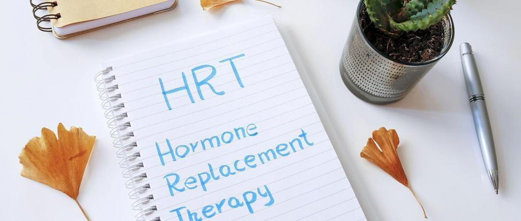 HRT - Hormone Replacement Therapy script on notepad